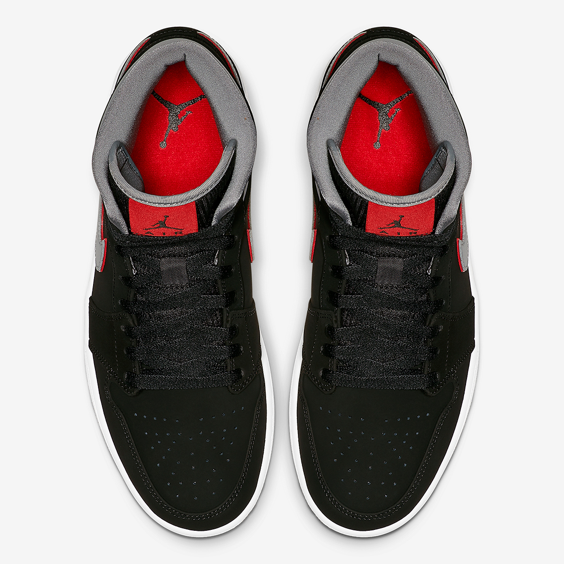 sports shoes a71f9 14d66 Jordan 1 Mid Black Grey Red 554724-060 Info | SneakerNews.com