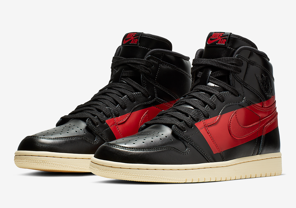 "f266c8c903f Air Jordan 1 Retro High OG Defiant ""Couture"" More Info: Air Jordan 1  Couture Release Date: February 23rd, 2019 $175. Color: Black/University  Red-Muslin"