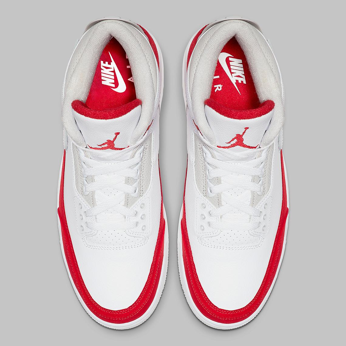 5cf32086182 Air Jordan 3 Tinker CJ0939-100 White University Red Release Date ...