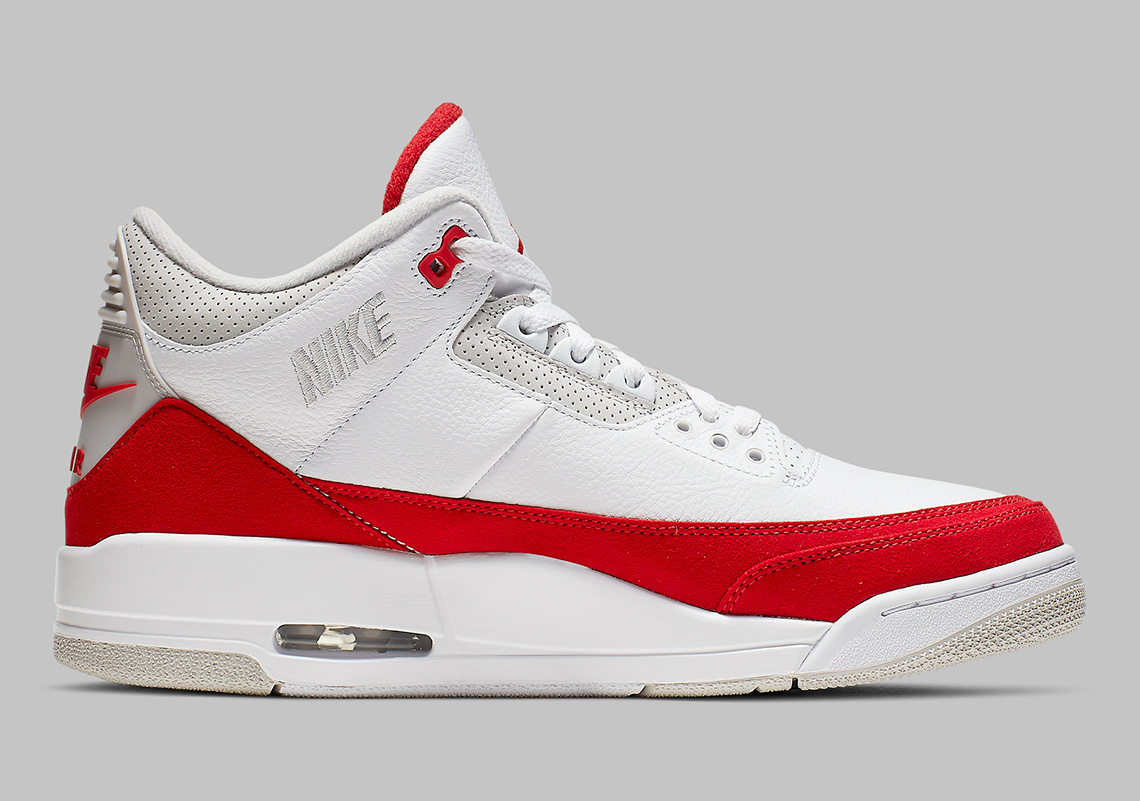 b1d8b4e389030c Air Jordan 3 Tinker CJ0939-100 White University Red Release Date ...