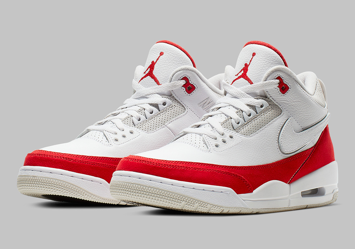 "d7d6d863508776 Air Jordan 3 Tinker ""University Red"" To Feature Removable Swoosh Logos"