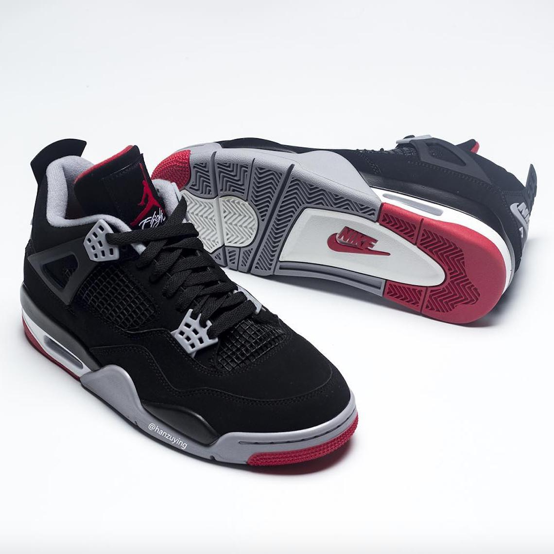 Jordan 4 Bred 2019 308497-060 Release