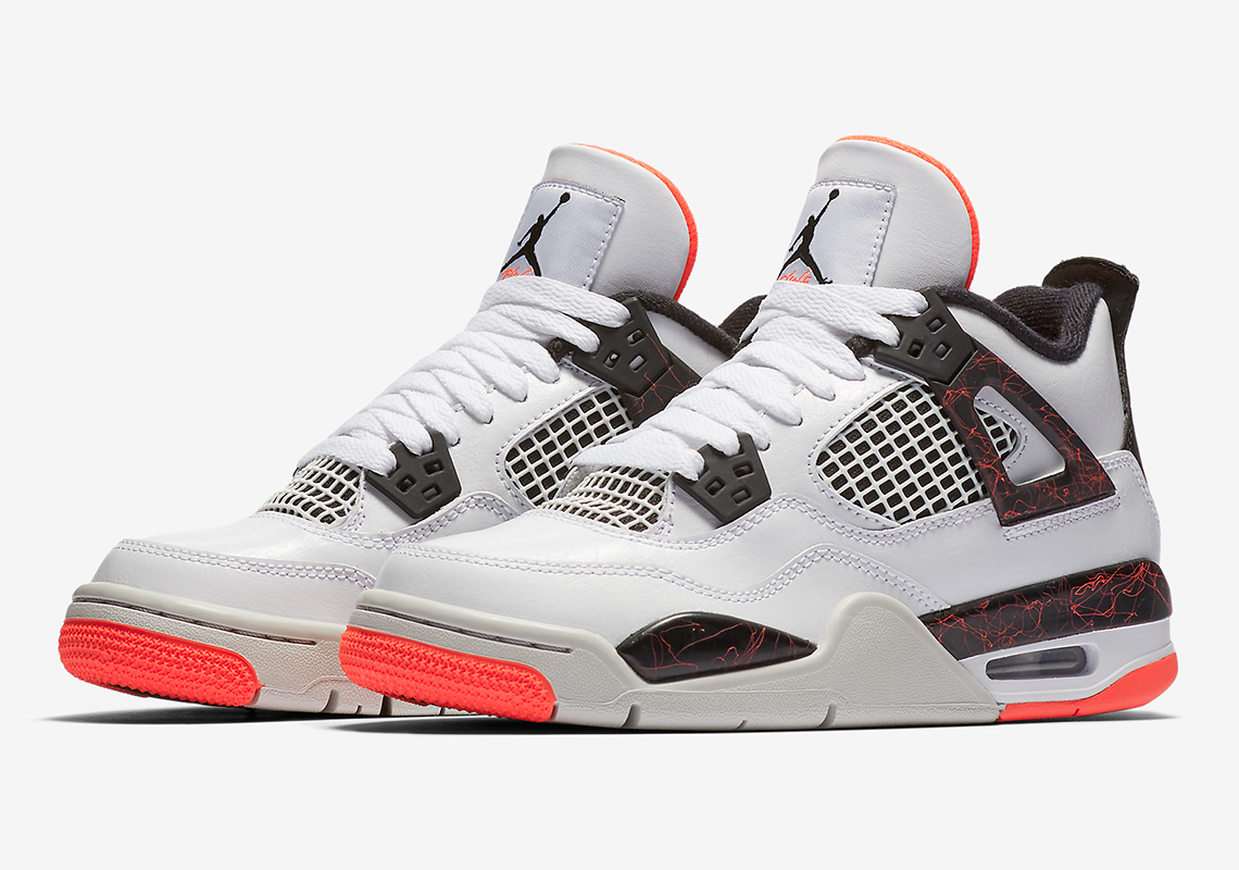 pretty nice 72af2 5b41a Air Jordan 4 Hot Lava 408452-116 Kids Release Info ...