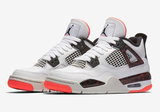 "The Air Jordan 4 ""Hot Lava"" Is Releasing In Kids Sizes"