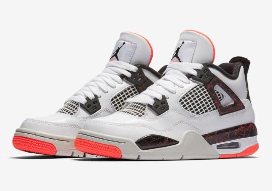 "The Air Jordan 4 ""Hot Lava"" Is Releasing In Kids Sizes d8565dbffefb"