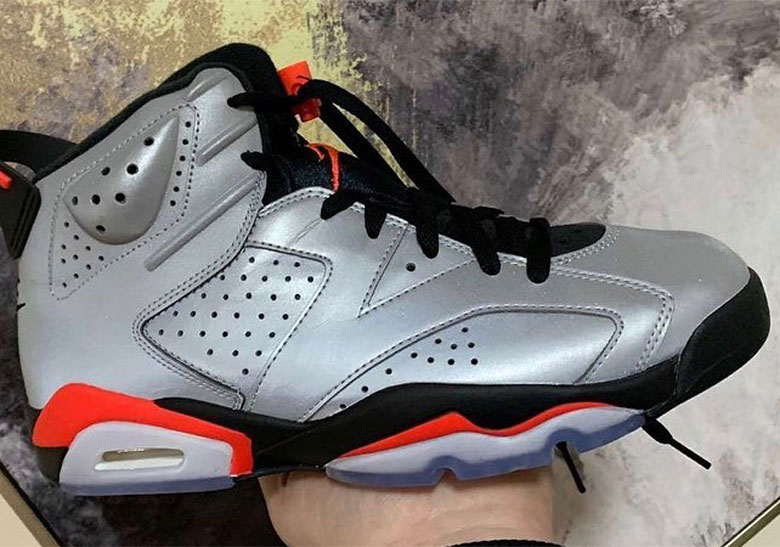 pretty nice 52b7b 6f80b Air Jordan 6 Reflective Infrared Kids Release Info ...