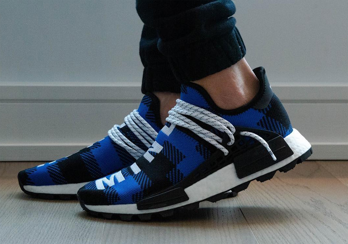 new arrival 1ce7c 4418c BBC adidas NMD Hu Flannel Blue Black Release Info ...