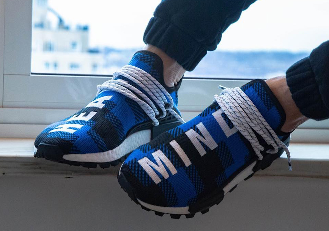 new arrival 53316 c07fc BBC adidas NMD Hu Flannel Blue Black Release Info ...