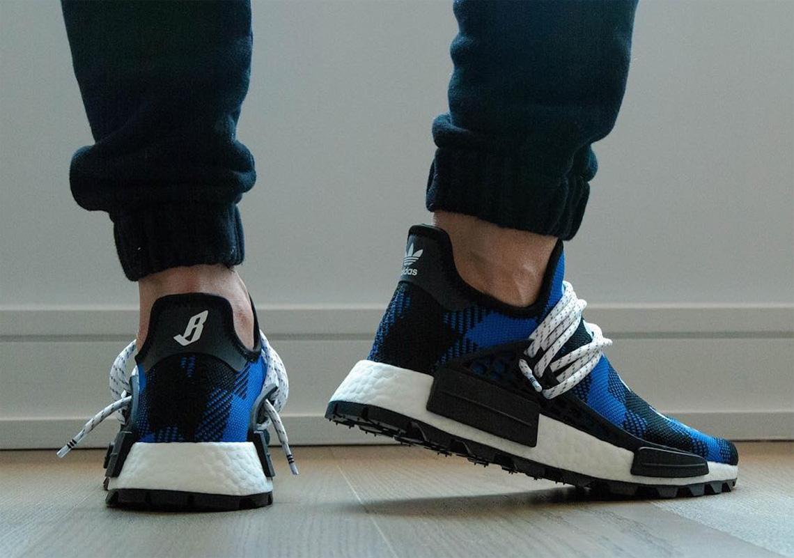 adidas hu nmd flannel blue
