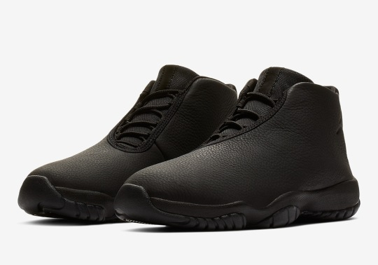 The Jordan Future Gets A Triple Black Leather Upper