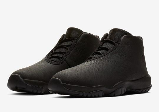 The Jordan Future Gets A Triple Black Leather Upper