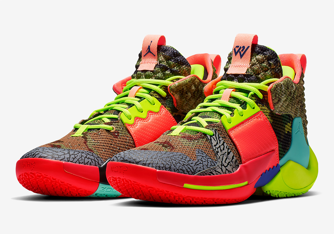"newest 1c190 48266 Jordan Why Not Zer0.2 ""Own The Game"" More Info  Jordan Why Not Zer0.2  All-Star Release Date  February 17th, 2019  125. Color  Camo Green Hyper ..."