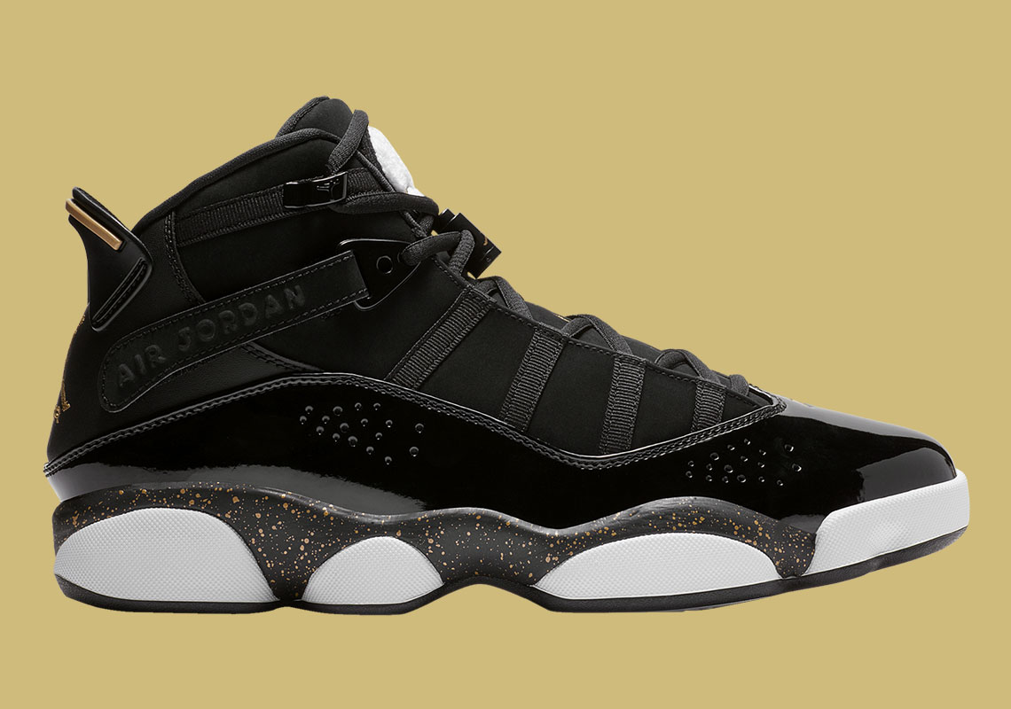 67d7da36850 The Jordan Six Rings Is Available Now In A Championship Black And Gold