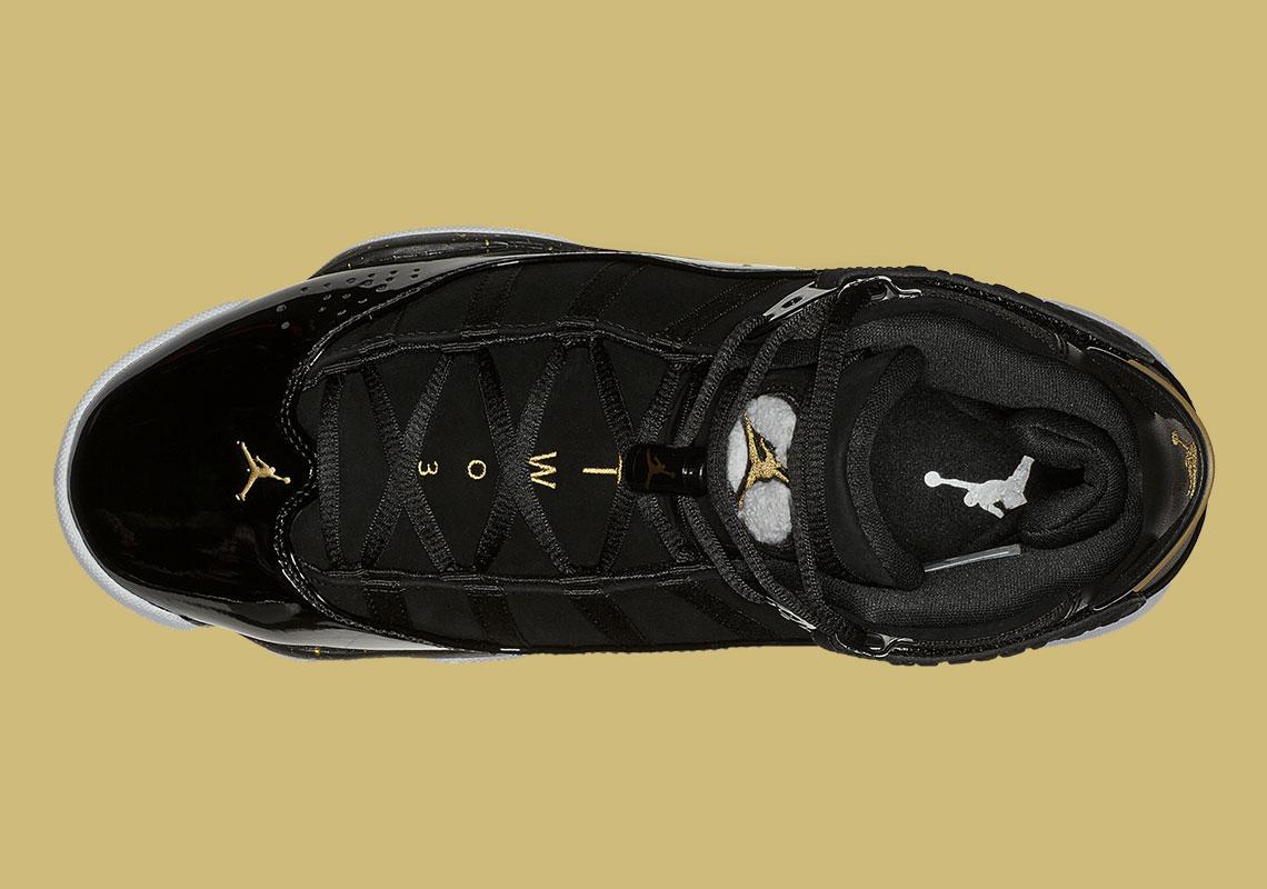air jordan 6 rings black and gold