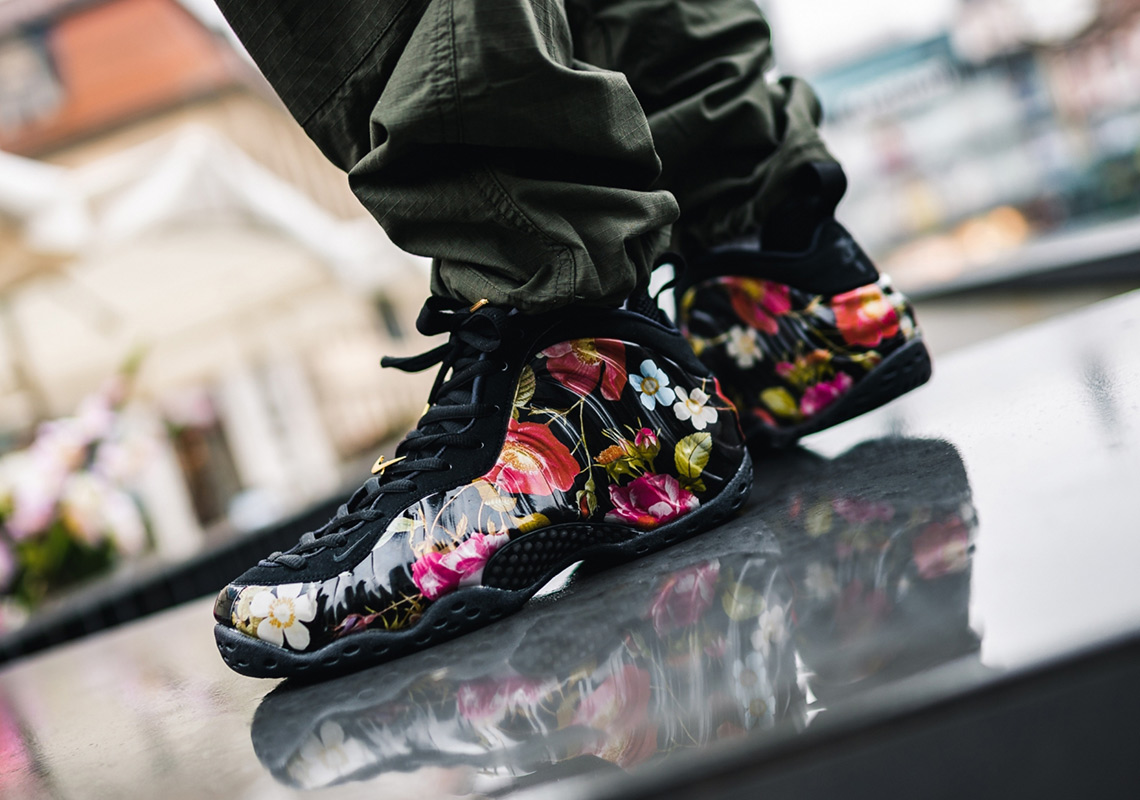 "Nike Air Foamposite One /""Floral/"" Men/'s New Black Lifestyle Sneakers 314996-012"