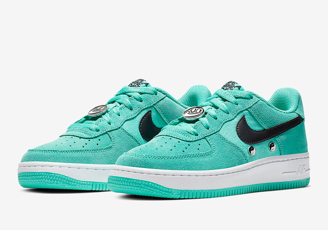 on sale e42e1 3b2d8 Nike Air Force 1 Big Kids Release Date  March 1st, 2019. Color  Hyper Jade  Black-White