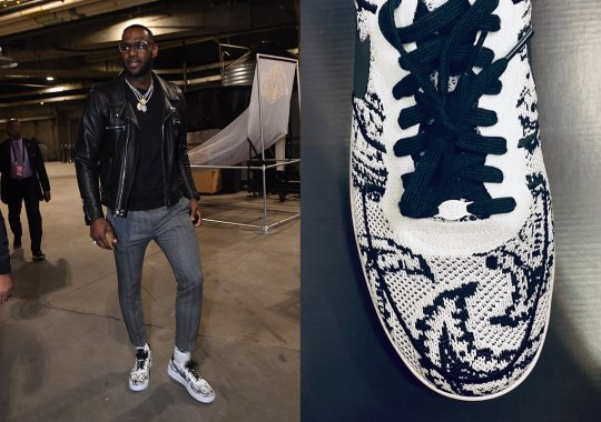 LeBron James Wears 1-of-1 Nike Air Force 1 In Paisley Flyknit