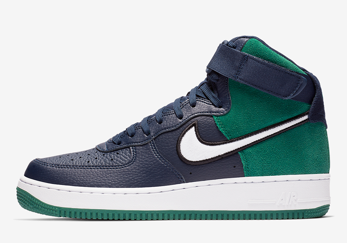 d69147fd4f6f59 The Classic Seahawks Look Arrives On The Nike Air Force 1 High
