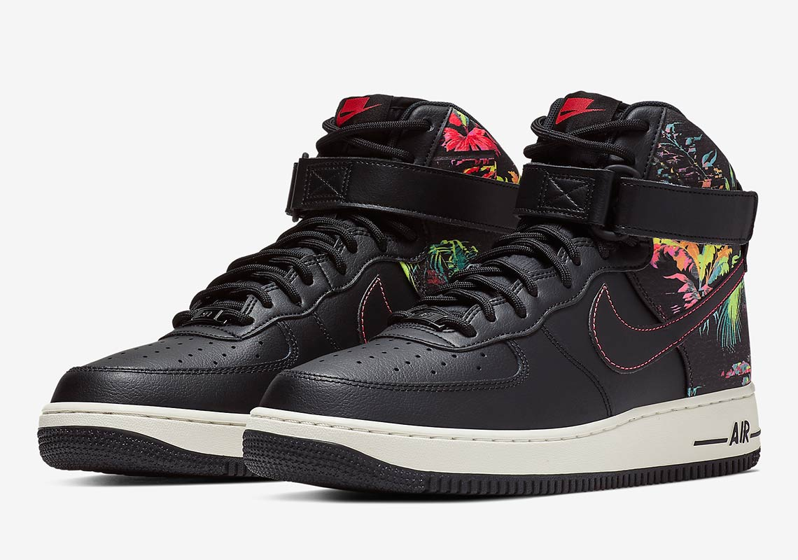 Nike Air Force 1 High Black Floral Ci2304 001 Info Sneakernews Com