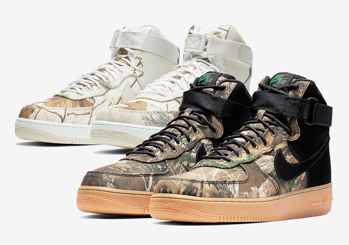 pretty nice 29276 6d2a2 Nike Air Force 1 High Realtree Camo AO2410-001 + AO2410-100    SneakerNews.com