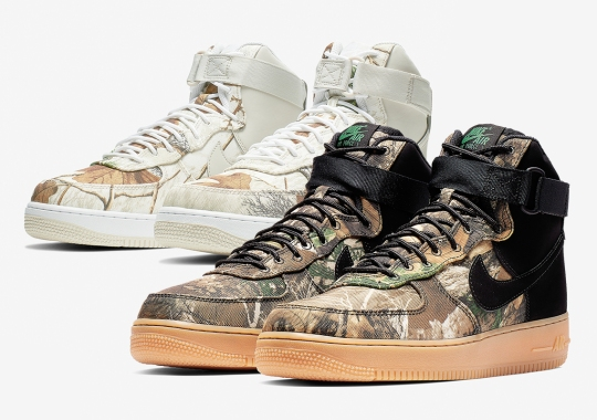 "half off 58c31 59a79 Nike Air Force 1 High ""Realtree Camo"" Pack Releases On February 8th"