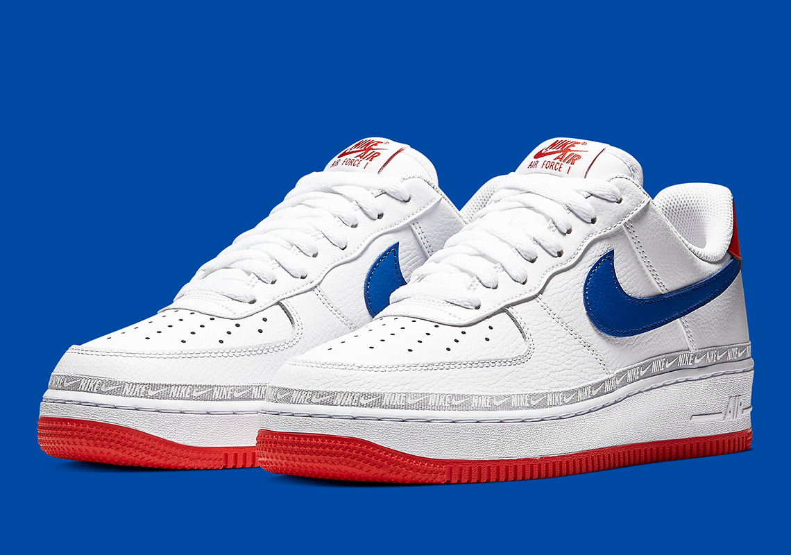 Nike Air Force 1 Low Red White Blue Cd7739 100 Sneakernews Com