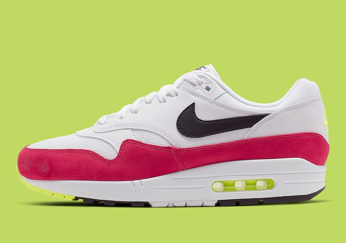 cheap for discount da516 9d70e Nike Air Max 1 Volt Rush Pink AH8145-111 Info   SneakerNews.com