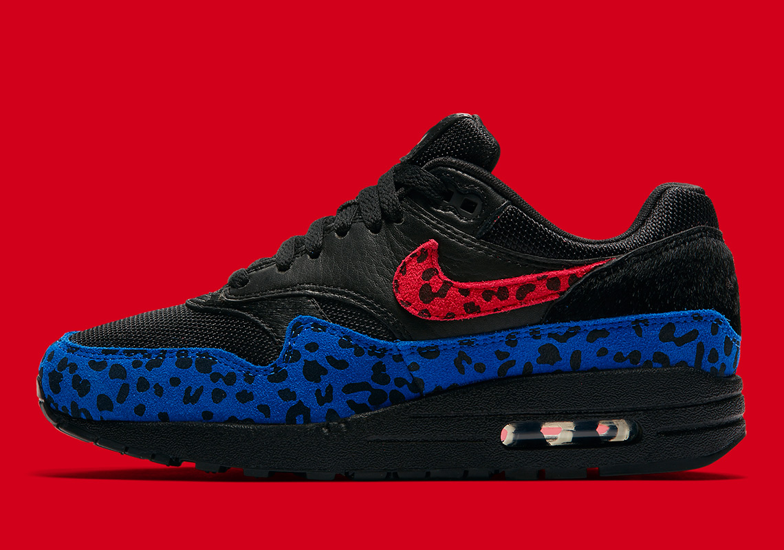 air max 1 premium black leopard