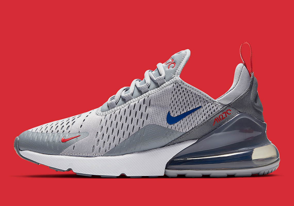 more photos 80195 d70fd Nike Air Max 270 Grey/Blue/Red Release Info CD7338-001 ...
