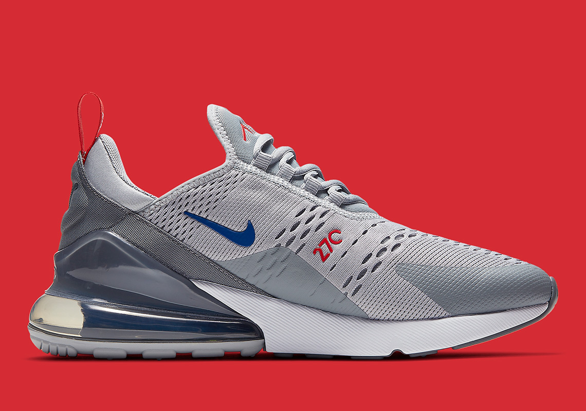 Nike Air Max 270 GreyBlueRed Release Info CD7338 001
