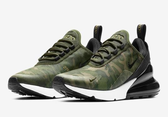 """The Nike Air Max 270 """"Camo"""" Is Available For Women"""