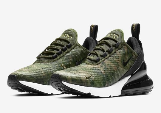 """bb0ba164370ca5 The Nike Air Max 270 """"Camo"""" Is Available For Women"""