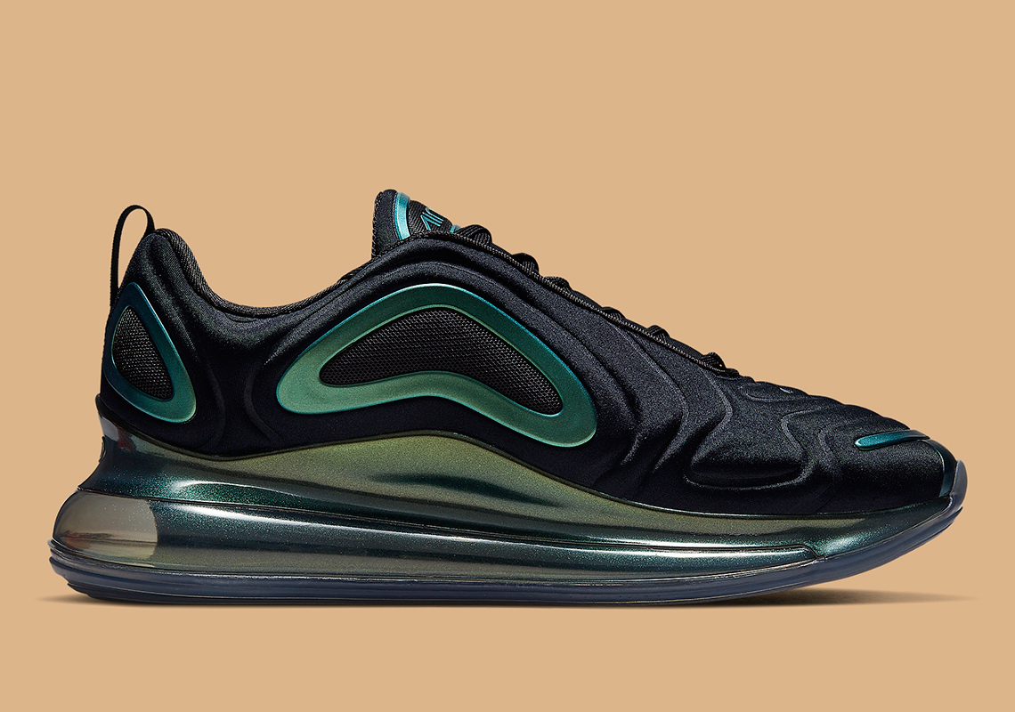 c59837bbf3a8 Nike Air Max 720 Black Green AO2924-010 Info
