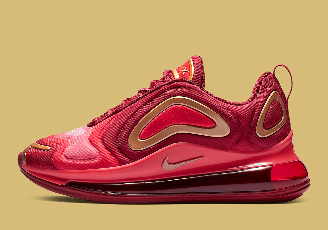 nike air max 720 red gold