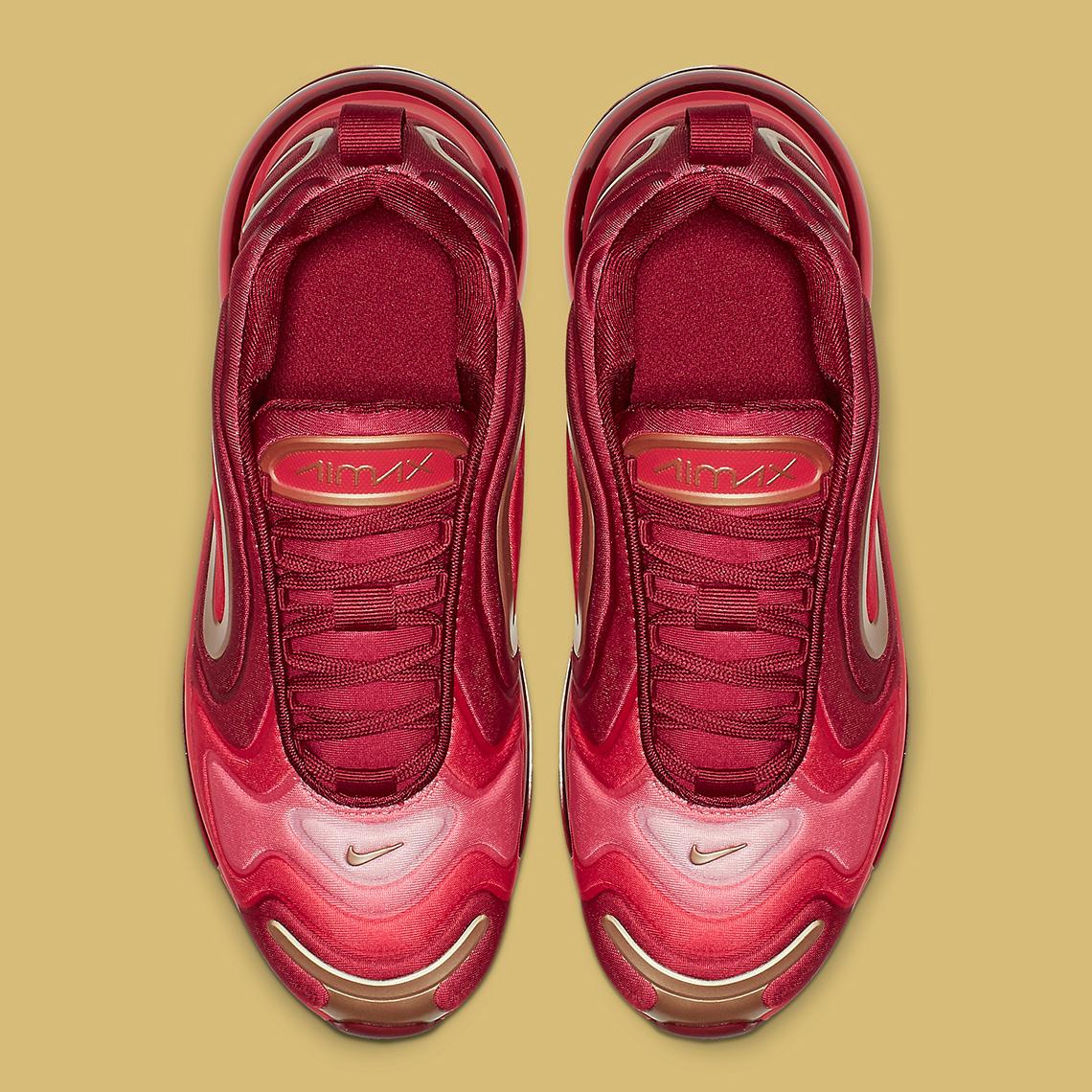 Nike Air Max 720 Kids Crimson + Gold AQ3195-600 ...