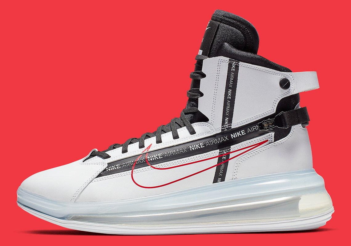 buy cheap a83cf 32c78 Nike Air Max 720 Saturn White Red AO2110-100   SneakerNews.com