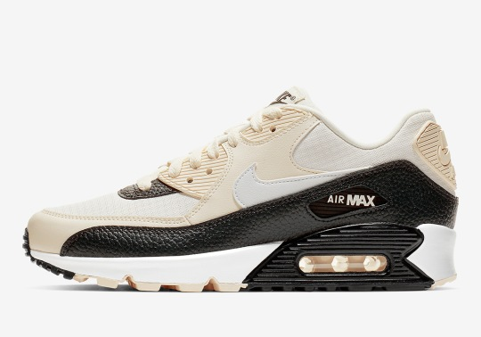 """Nike Air Max 90 """"Pale Ivory"""" Features Tumbled Leather Mudguards"""
