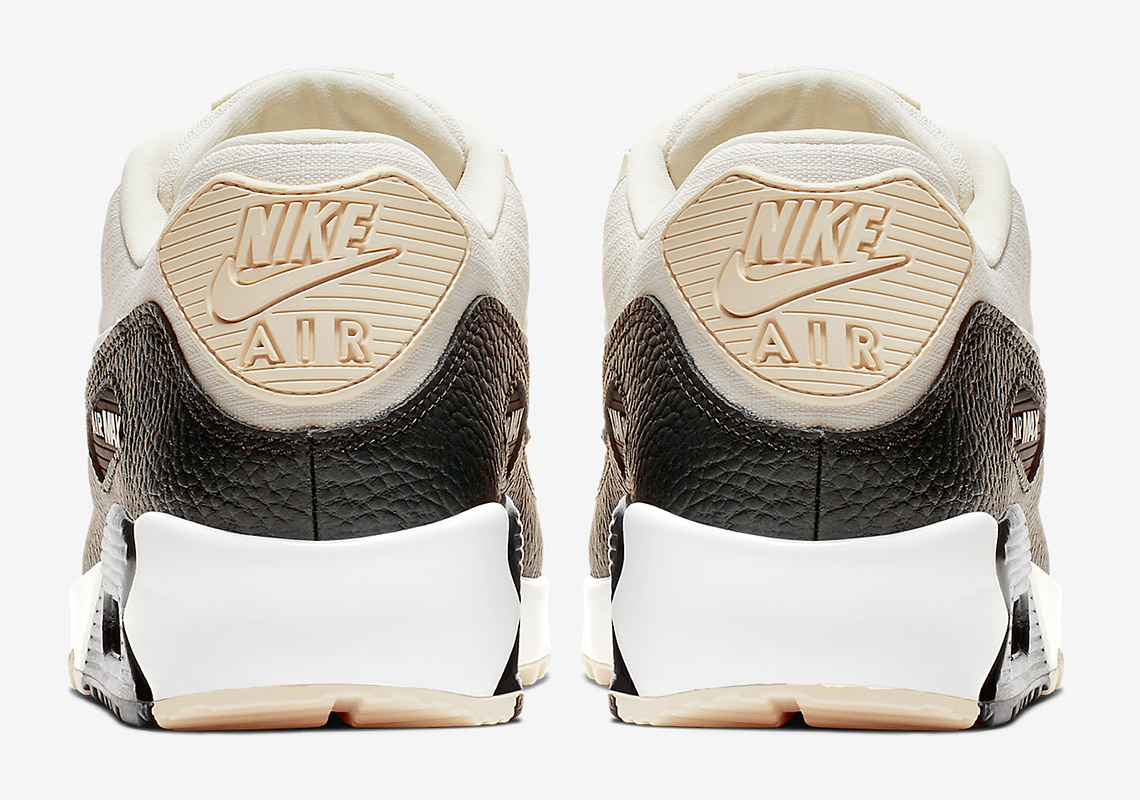 Nike AIR MAX 90 W Weiss Schwarz Schuhe Sneaker Low Damen 138