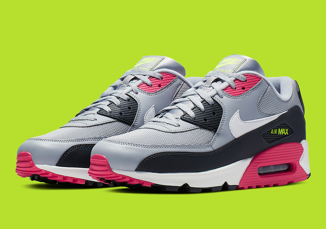 ae6386b108c Lively Neon Accents Come To Nike s Air Max 90 Essential