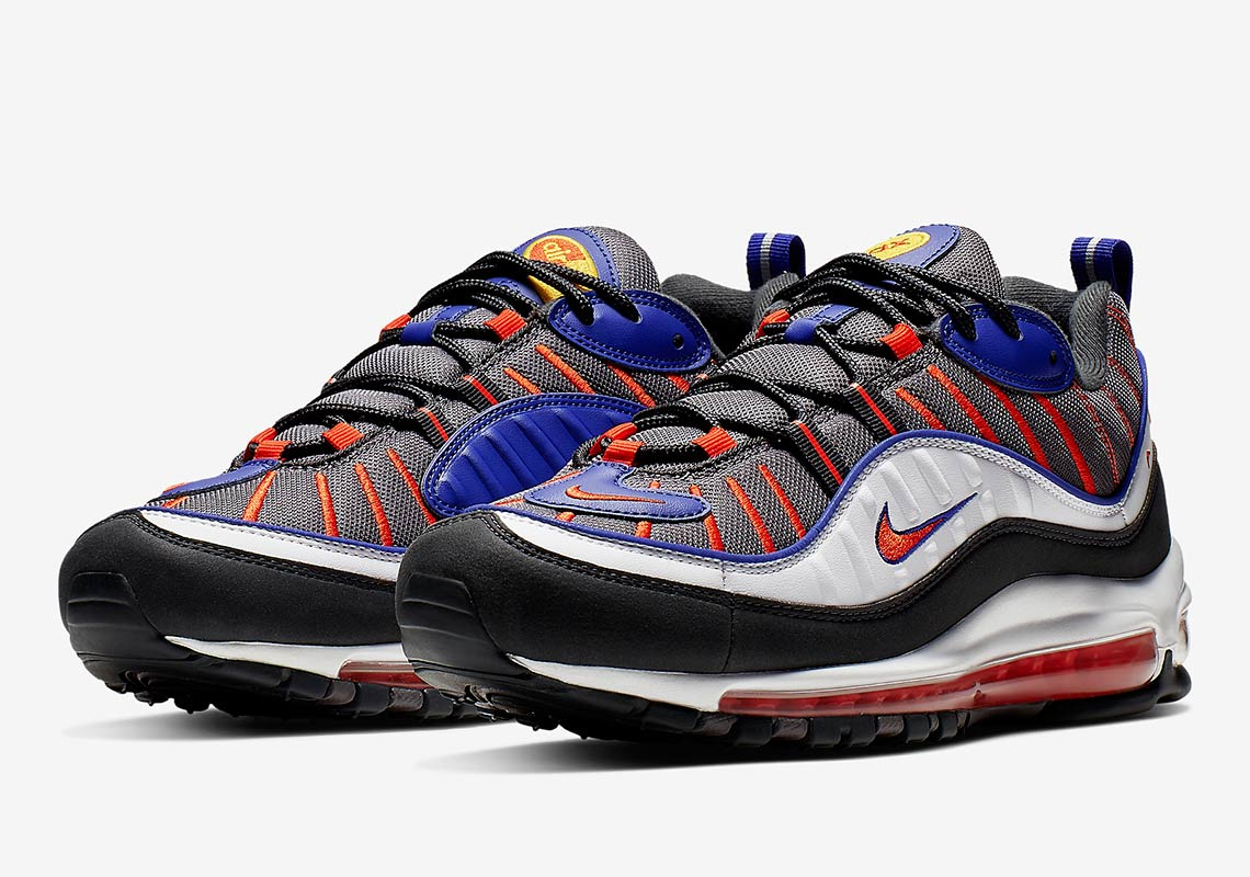 new style c20b1 bf24f Nike Air Max 98 Grey Blue Orange 640744-012 Info ...