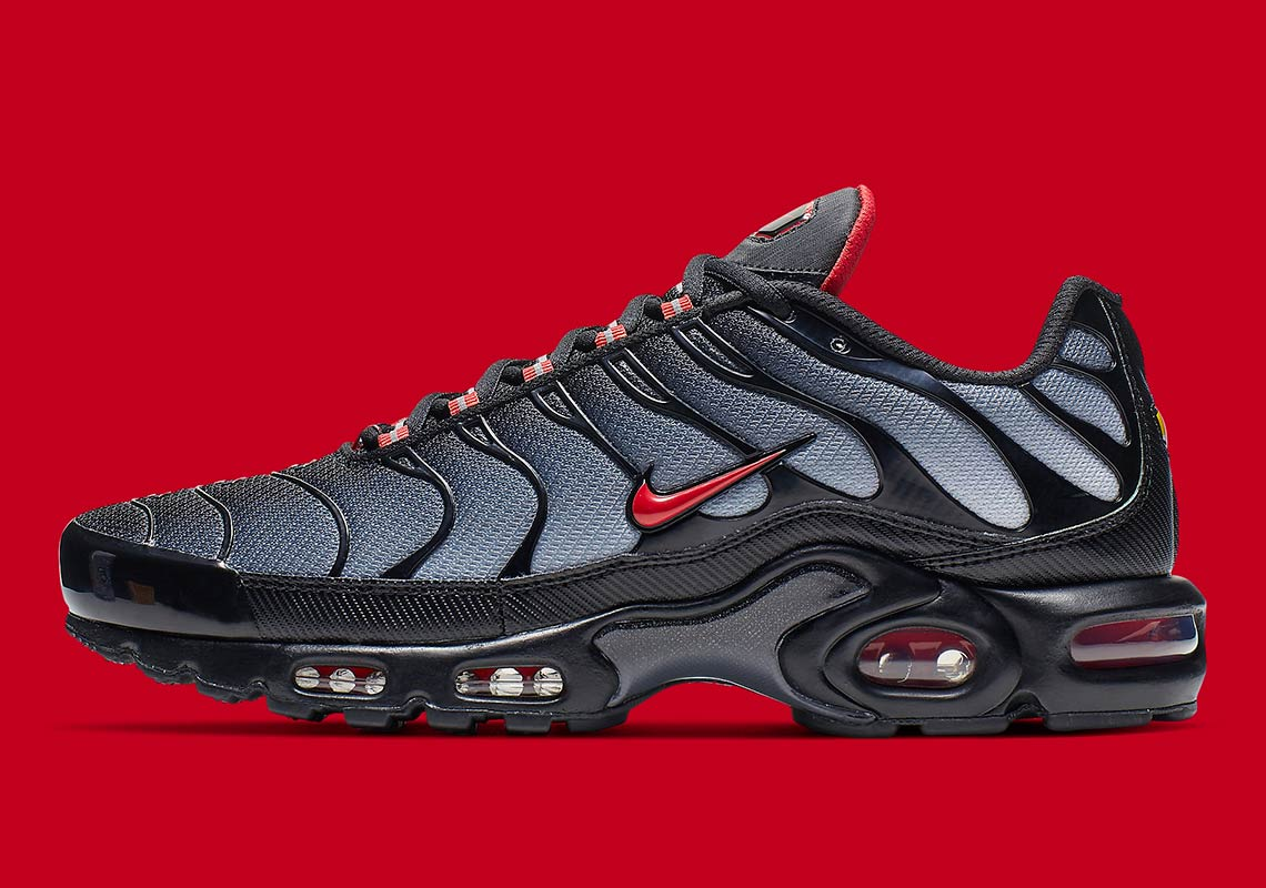 0555a20ccd Nike Air Max Plus Black Grey Red CI2299-001 Info | SneakerNews.com