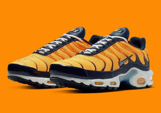 pretty nice 92928 198f9 The Nike Air Max Plus Is Back In Dark Navy And Orange Hues