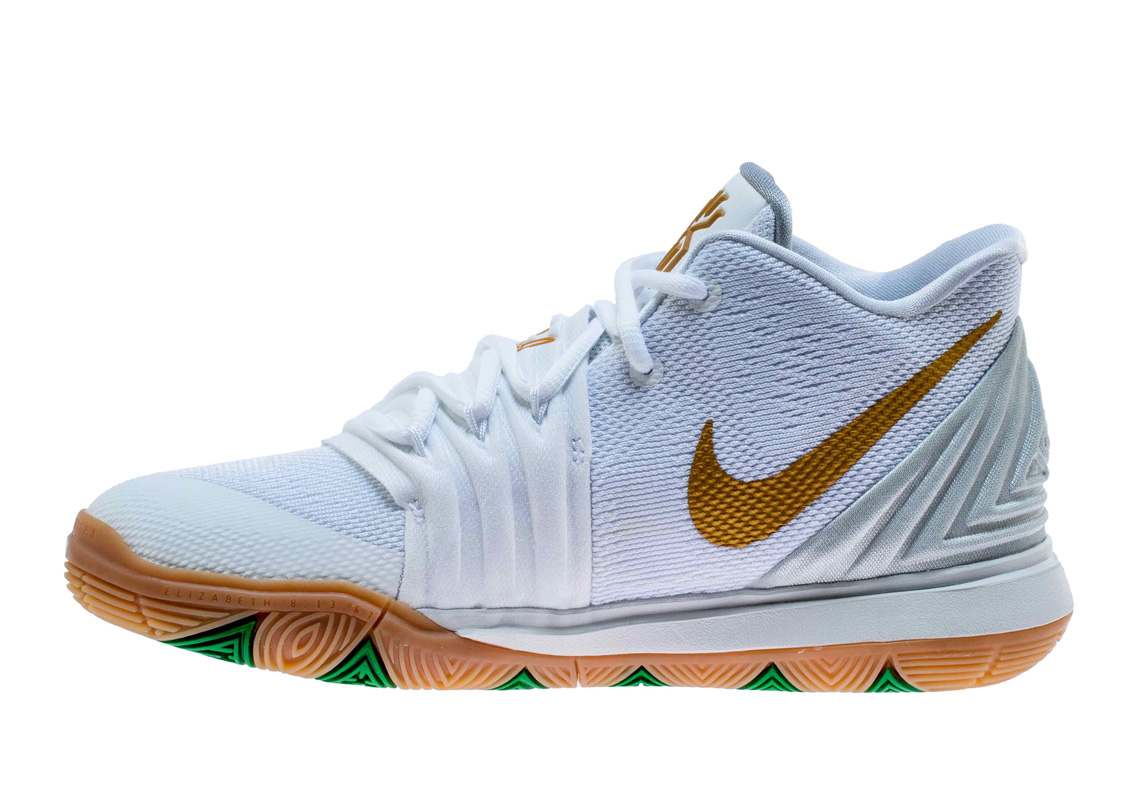 online store dea10 18058 Nike Kyrie 5. Release Date  March 1st, 2019  110. Color  White Metallic  Gold-Pure Platinum Style Code  AQ2456-170