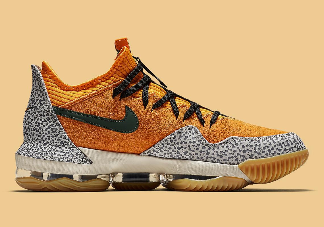 "24d67d8a9ea Nike LeBron 16 Low ""Safari"" Style Code  CI3358-800. Advertisement"