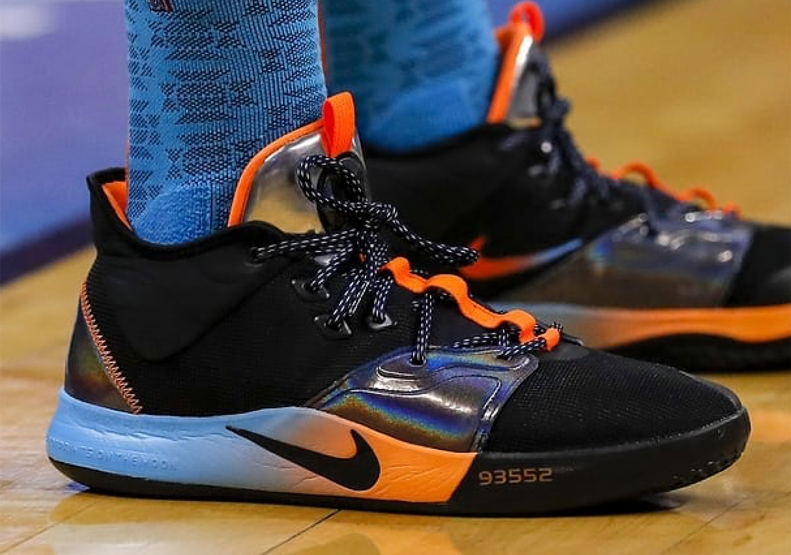 ddf0b3ef2ace32 Paul George Debuts A Nike PG3 With Iridescent Detailing