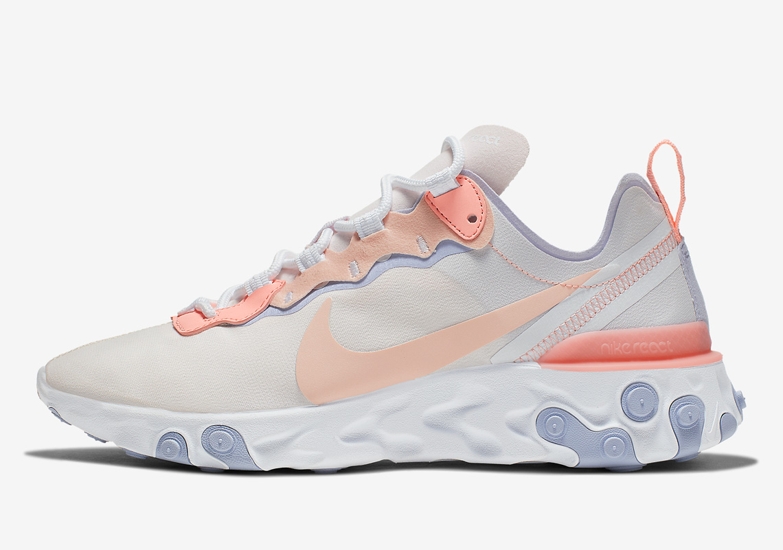 35e26105cdf Nike React Element 55 Pale Pink BQ2728-601