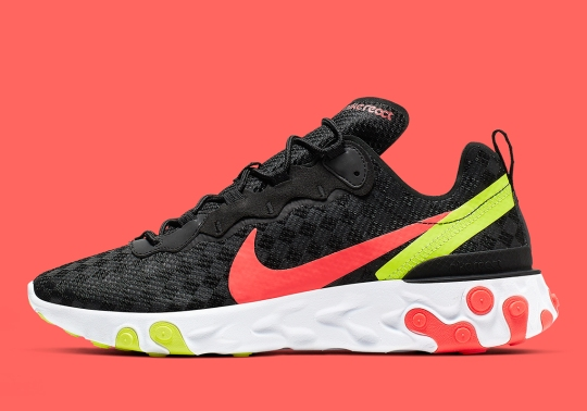 The Nike React Element 55 Boasts Diagonal Checkered Patterns