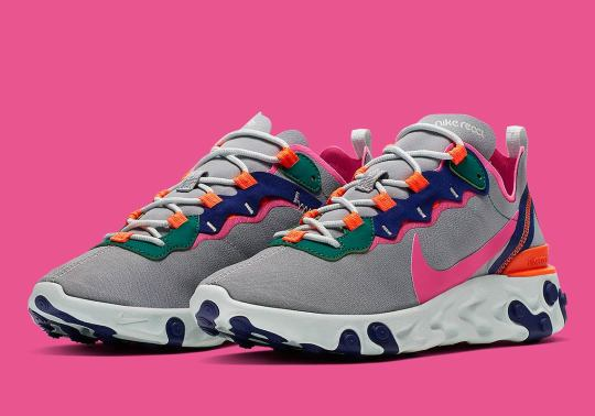 """Nike's """"Wolf Grey"""" React Element 55 Features Bright And Bold Accents"""