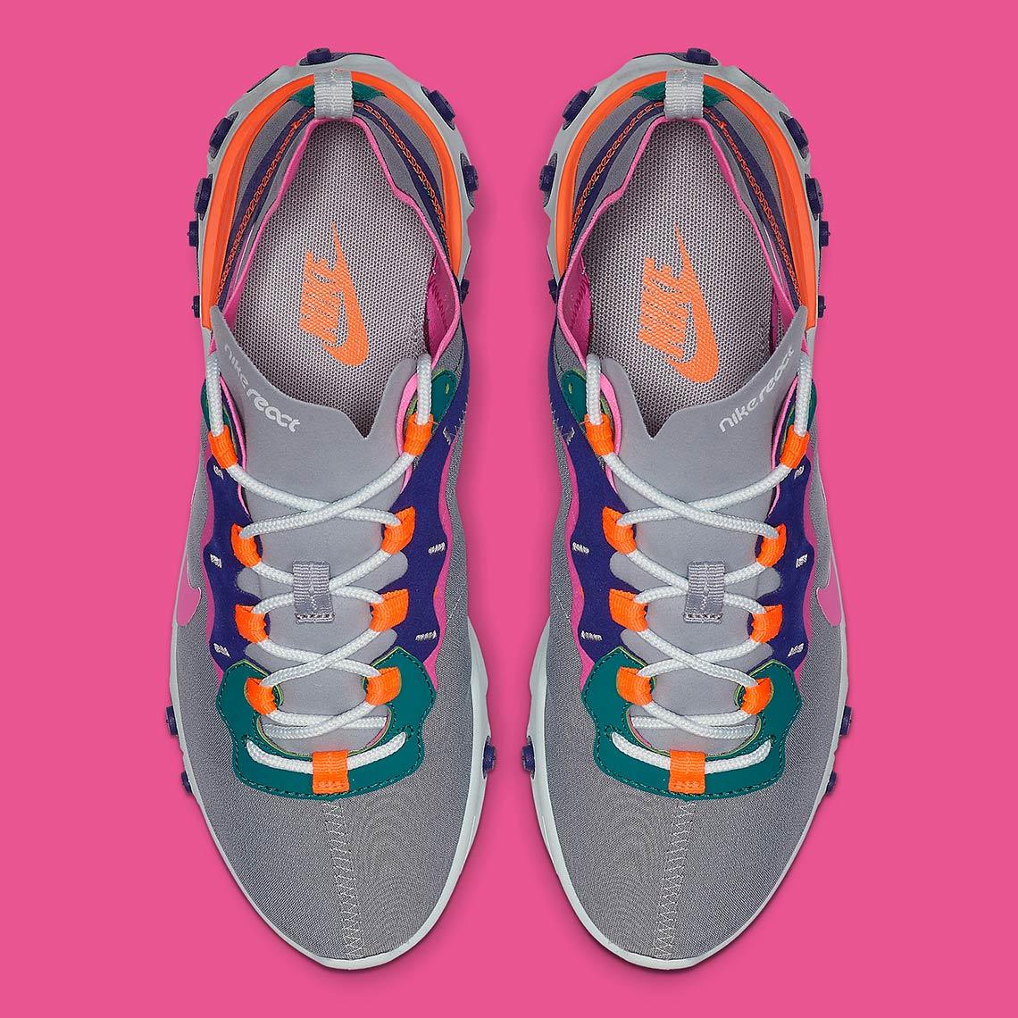 d01dceb74 Nike React Element 55 Wmns  130. Color  Wolf Grey Laser Fuchsia-Hyper  Crimson Style Code  BQ2728-006. Advertisement. Advertisement