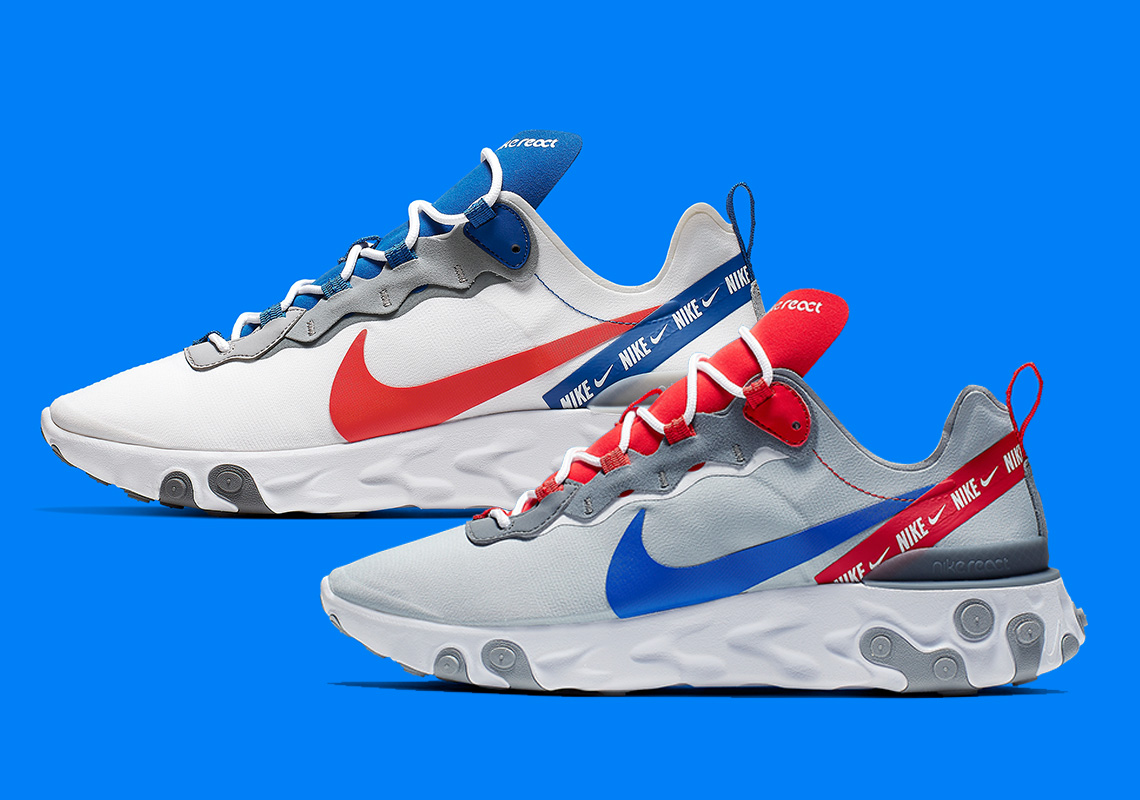 966296f5198a Nike Drops Two React Element 55s With Branded Taped Seams
